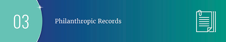 Philanthropic records are excellent prospect research resources to look into a prospect