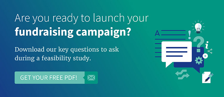 Download our top fundraising feasibility study questions to ask.