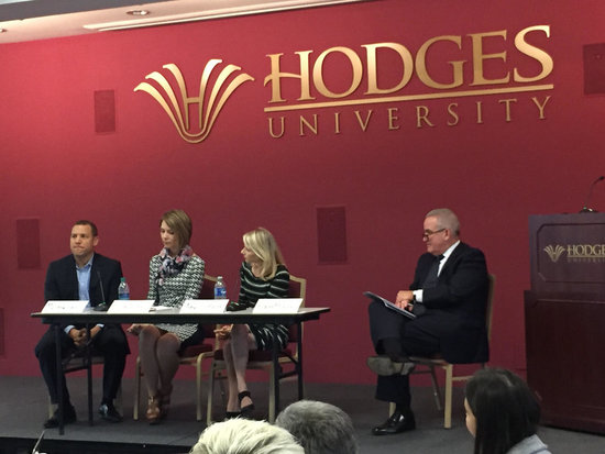 Robert Happy moderates the panelists as they discuss nonprofit storytelling techniques to engage donors.