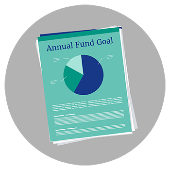 Your annual fund campaign's goal breaks down into several gift ranges.