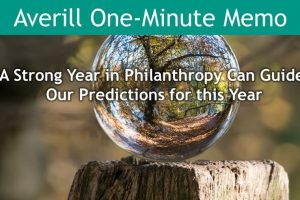 A strong year in philanthropy in 2019 can guide our predictions now.