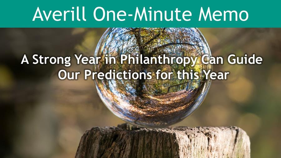 A strong year in philanthropy can guide our predictions for this year.